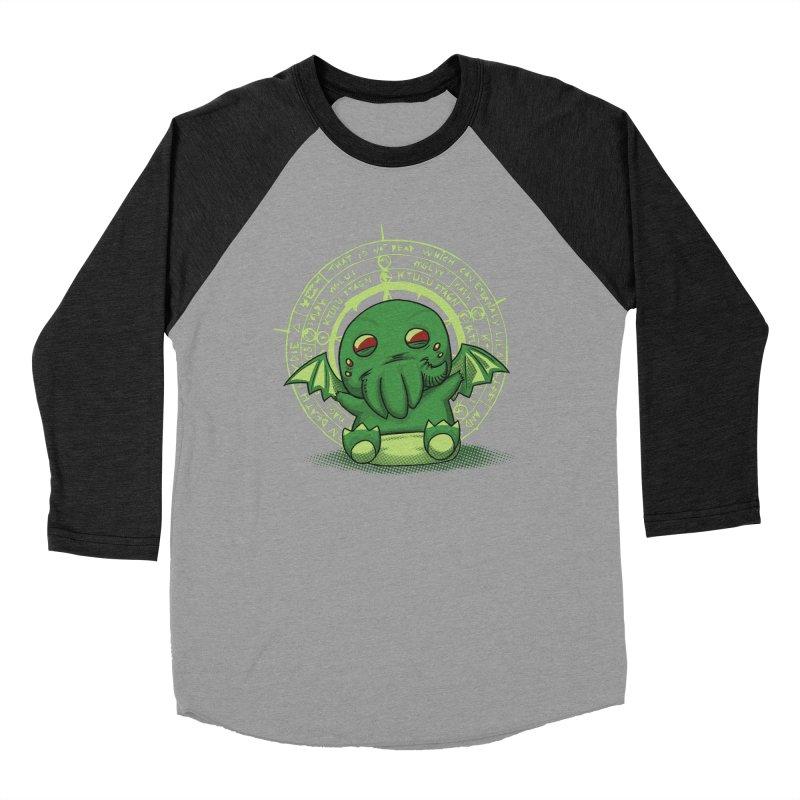 The Littlest Elder God Men's Baseball Triblend T-Shirt by Stuff, By Alan Bao