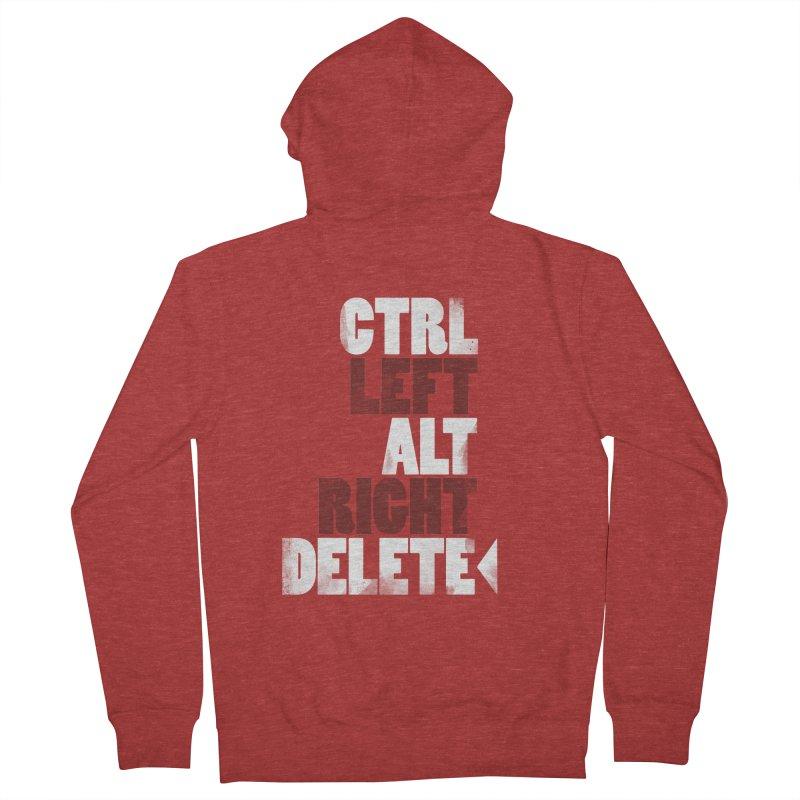 Ctrl-Left Alt-Right Delete Women's Zip-Up Hoody by Stuff, By Alan Bao