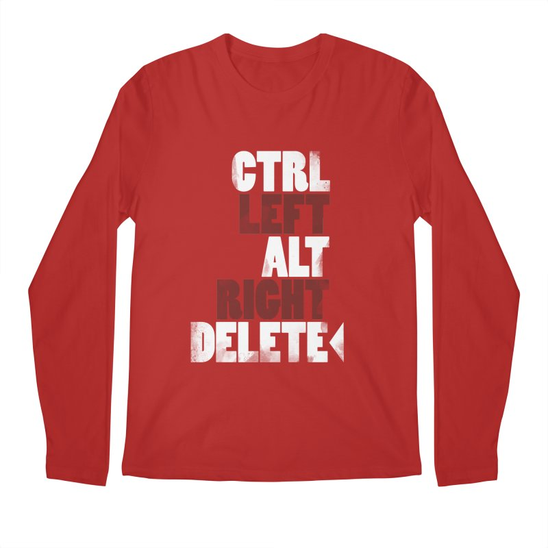 Ctrl-Left Alt-Right Delete Men's Longsleeve T-Shirt by Stuff, By Alan Bao