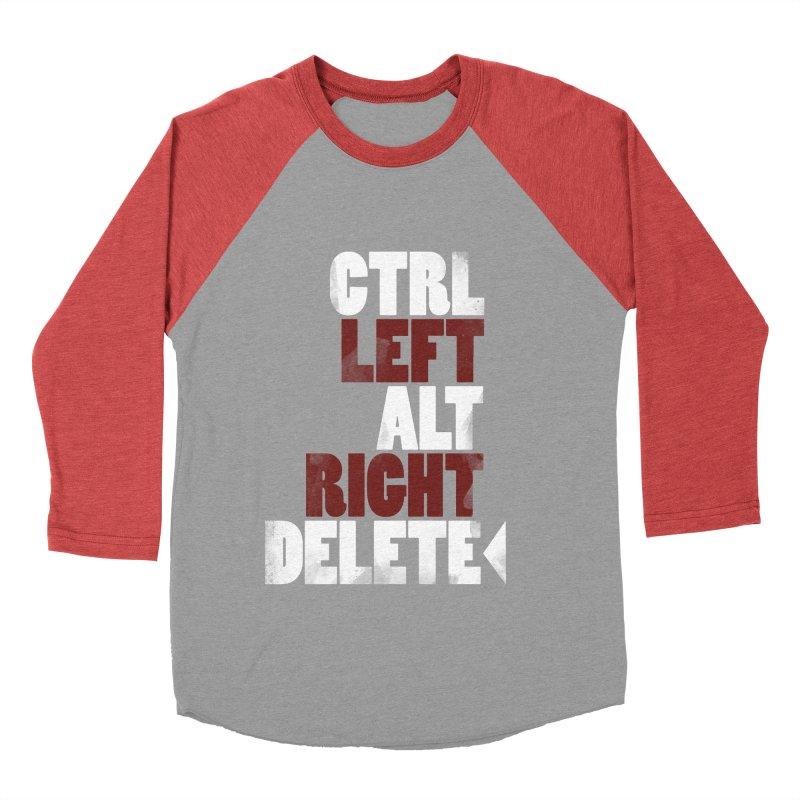 Ctrl-Left Alt-Right Delete Men's Baseball Triblend T-Shirt by Stuff, By Alan Bao