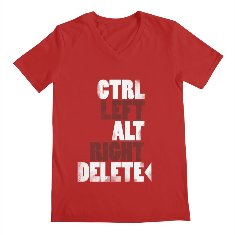 Ctrl-Left Alt-Right Delete Men's V-Neck by Stuff, By Alan Bao