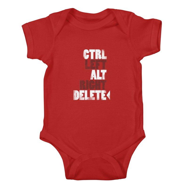 Ctrl-Left Alt-Right Delete Kids Baby Bodysuit by Stuff, By Alan Bao