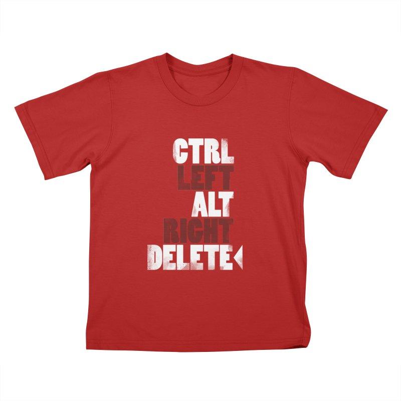 Ctrl-Left Alt-Right Delete Kids T-shirt by Stuff, By Alan Bao