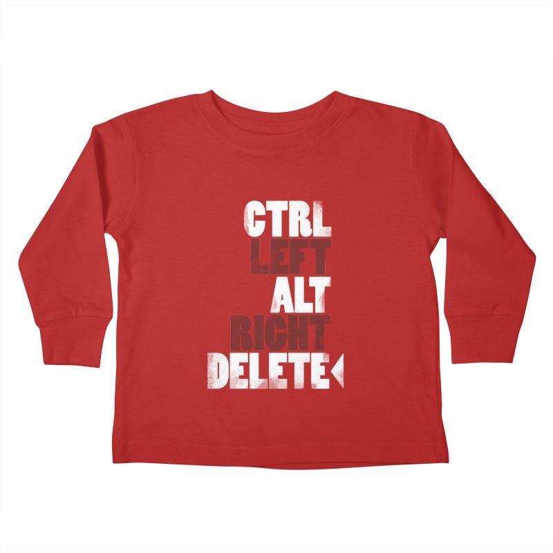 Ctrl-Left Alt-Right Delete Kids Toddler Longsleeve T-Shirt by Stuff, By Alan Bao