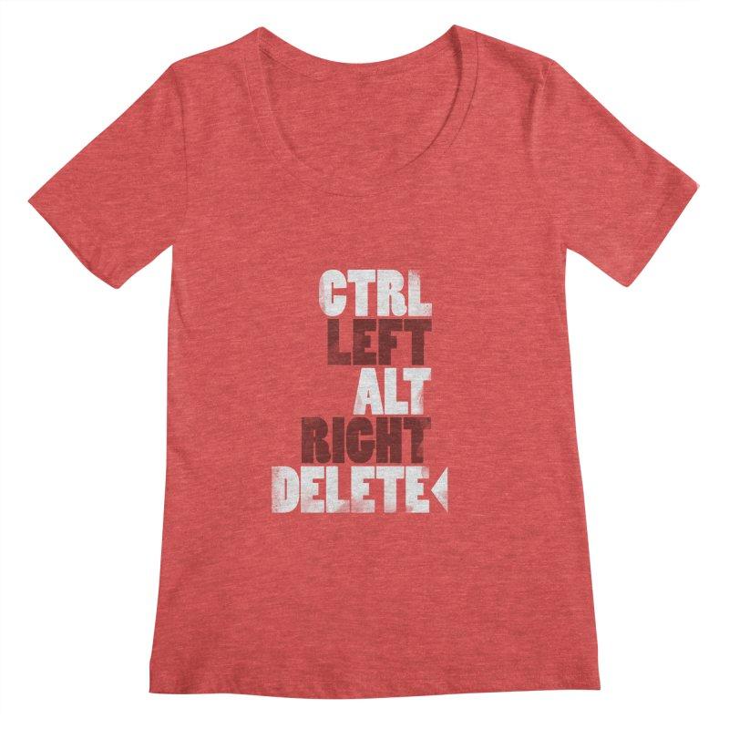 Ctrl-Left Alt-Right Delete Women's Scoopneck by Stuff, By Alan Bao