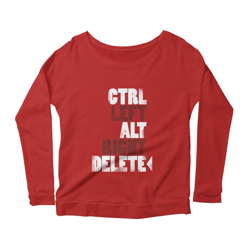Ctrl-Left Alt-Right Delete Women's Longsleeve Scoopneck  by Stuff, By Alan Bao