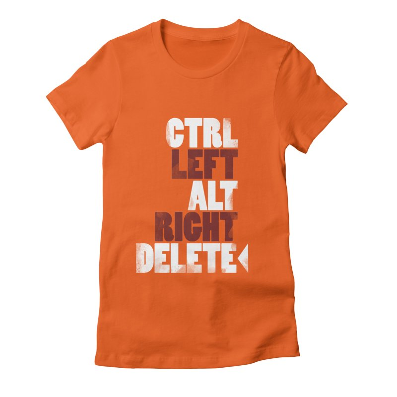 Ctrl-Left Alt-Right Delete Women's Fitted T-Shirt by Stuff, By Alan Bao