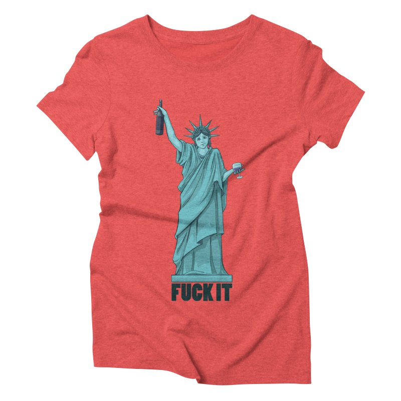 Fuck It Women's Triblend T-shirt by Stuff, By Alan Bao