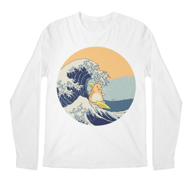 Surfin' Kanagawa Men's Longsleeve T-Shirt by Stuff, By Alan Bao