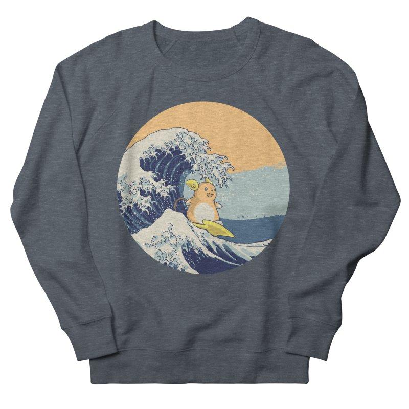 Surfin' Kanagawa Men's Sweatshirt by Stuff, By Alan Bao
