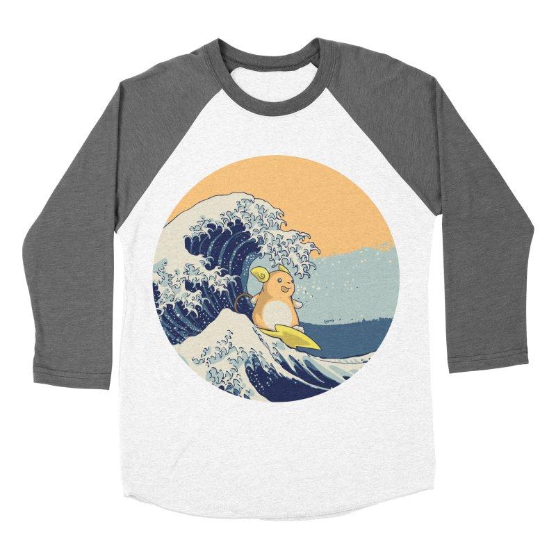 Surfin' Kanagawa Men's Baseball Triblend T-Shirt by Stuff, By Alan Bao