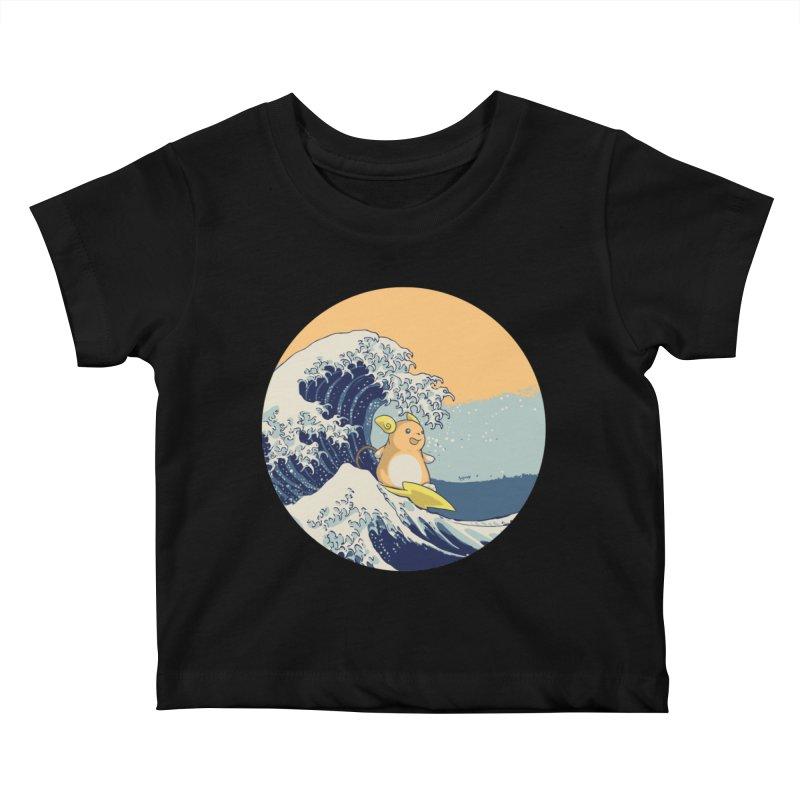 Surfin' Kanagawa Kids Baby T-Shirt by Stuff, By Alan Bao