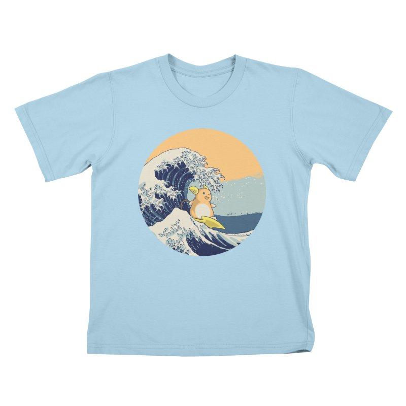 Surfin' Kanagawa Kids T-shirt by Stuff, By Alan Bao