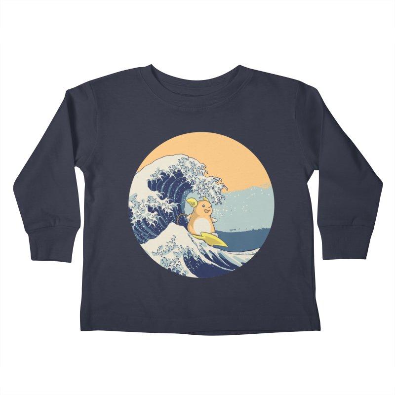 Surfin' Kanagawa Kids Toddler Longsleeve T-Shirt by Stuff, By Alan Bao