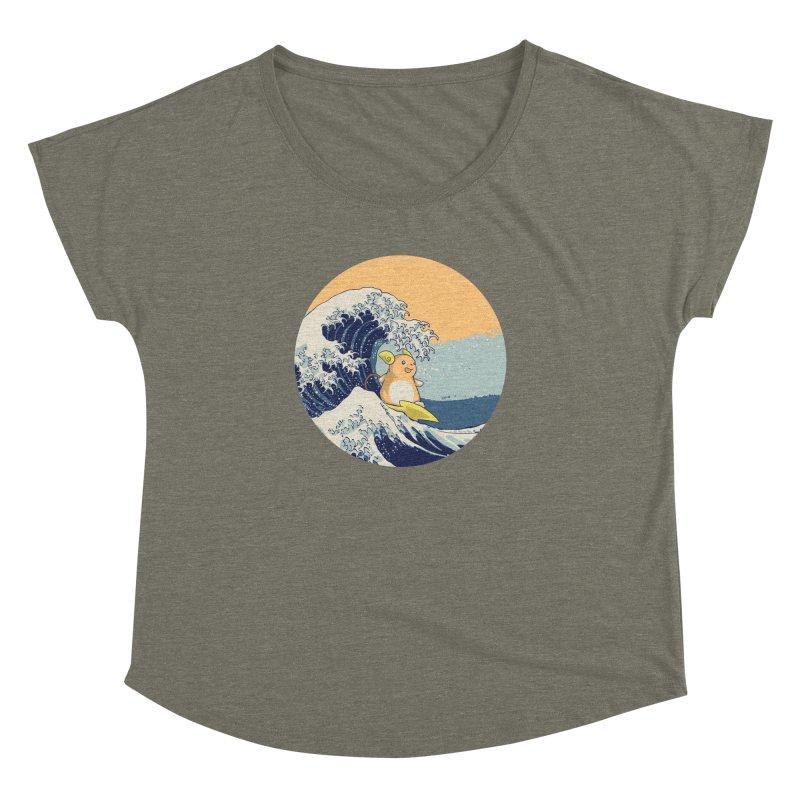 Surfin' Kanagawa Women's Dolman by Stuff, By Alan Bao
