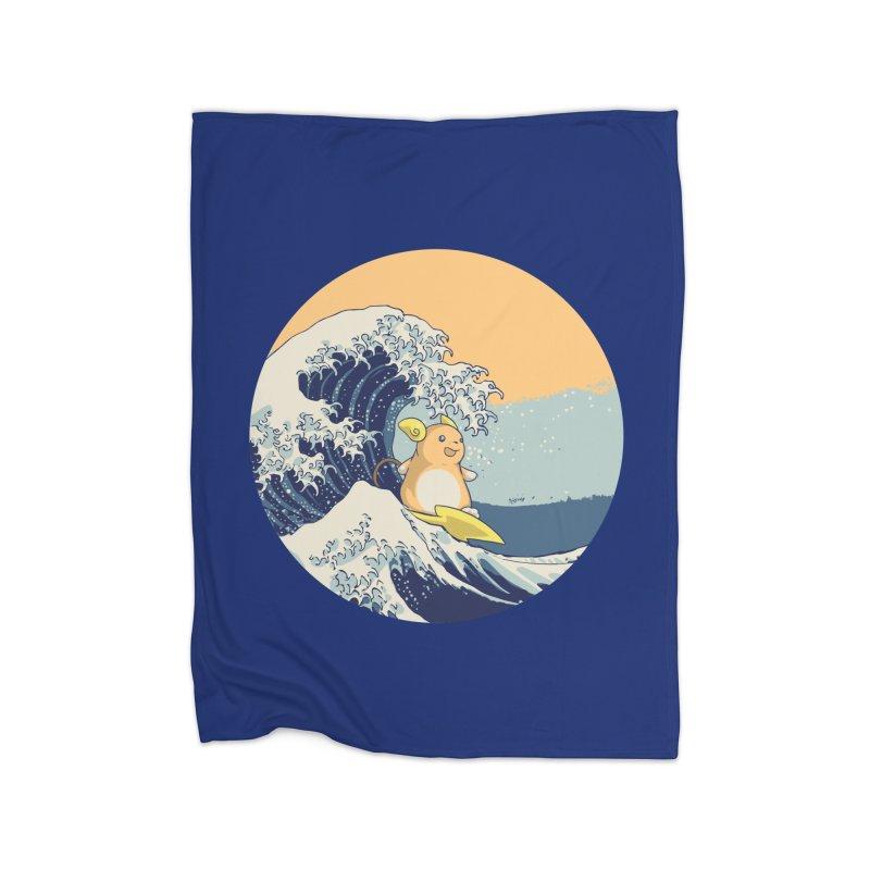 Surfin' Kanagawa Home Blanket by Stuff, By Alan Bao