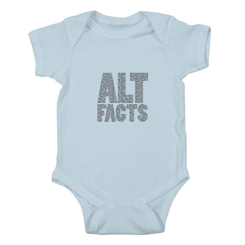 Alternative Facts Kids Baby Bodysuit by Stuff, By Alan Bao