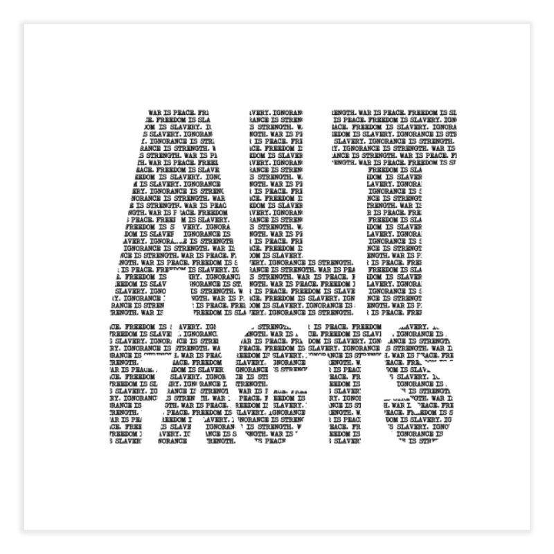 Alternative Facts Home Fine Art Print by Stuff, By Alan Bao