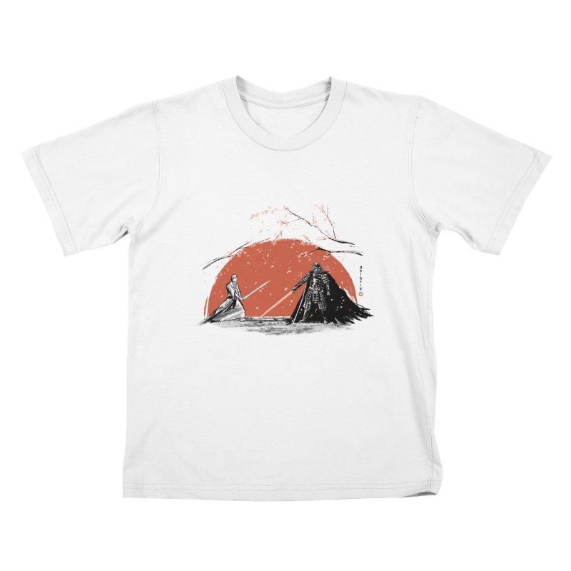 Sakura Showdown Kids T-shirt by Stuff, By Alan Bao