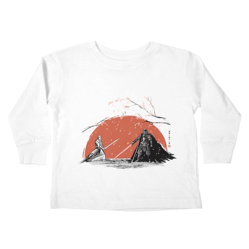 Sakura Showdown Kids Toddler Longsleeve T-Shirt by Stuff, By Alan Bao