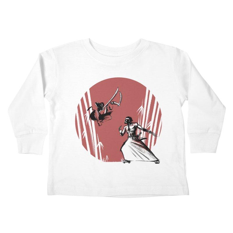 Mouthy Ninja vs Immortal Samurai Kids Toddler Longsleeve T-Shirt by Stuff, By Alan Bao
