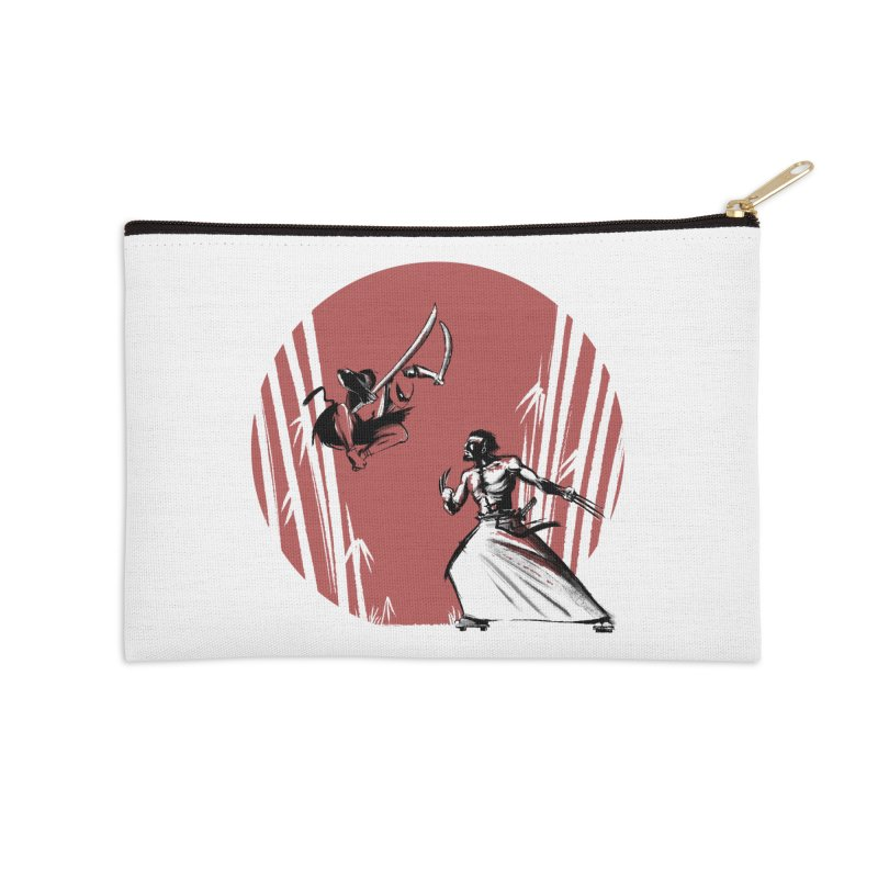 Mouthy Ninja vs Immortal Samurai Accessories Zip Pouch by Stuff, By Alan Bao