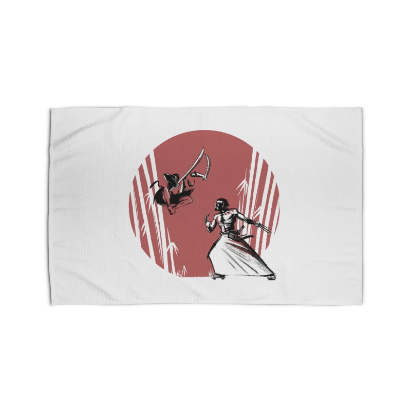 Mouthy Ninja vs Immortal Samurai Home Rug by Stuff, By Alan Bao