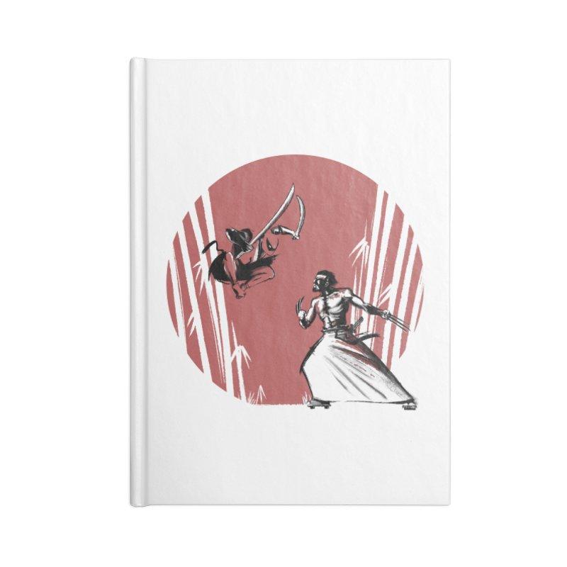 Mouthy Ninja vs Immortal Samurai Accessories Notebook by Stuff, By Alan Bao