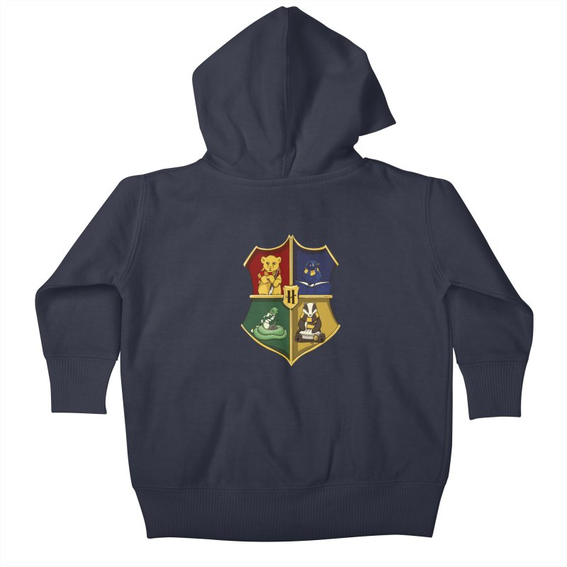 Magical Crest Kids Baby Zip-Up Hoody by Stuff, By Alan Bao