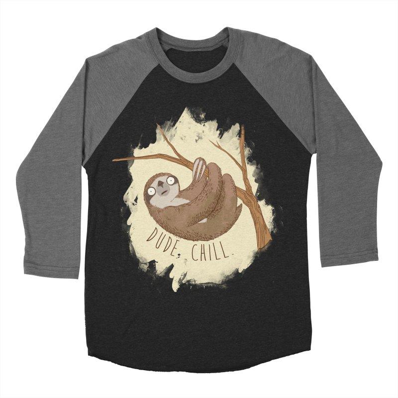 Dude, Chill Men's Baseball Triblend T-Shirt by Stuff, By Alan Bao