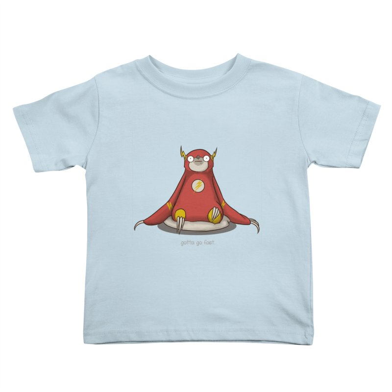 Fast Sloth Kids Toddler T-Shirt by Stuff, By Alan Bao