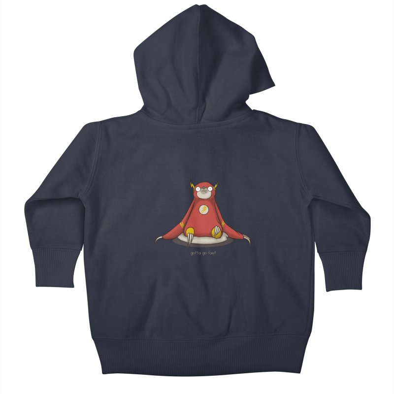 Fast Sloth Kids Baby Zip-Up Hoody by Stuff, By Alan Bao