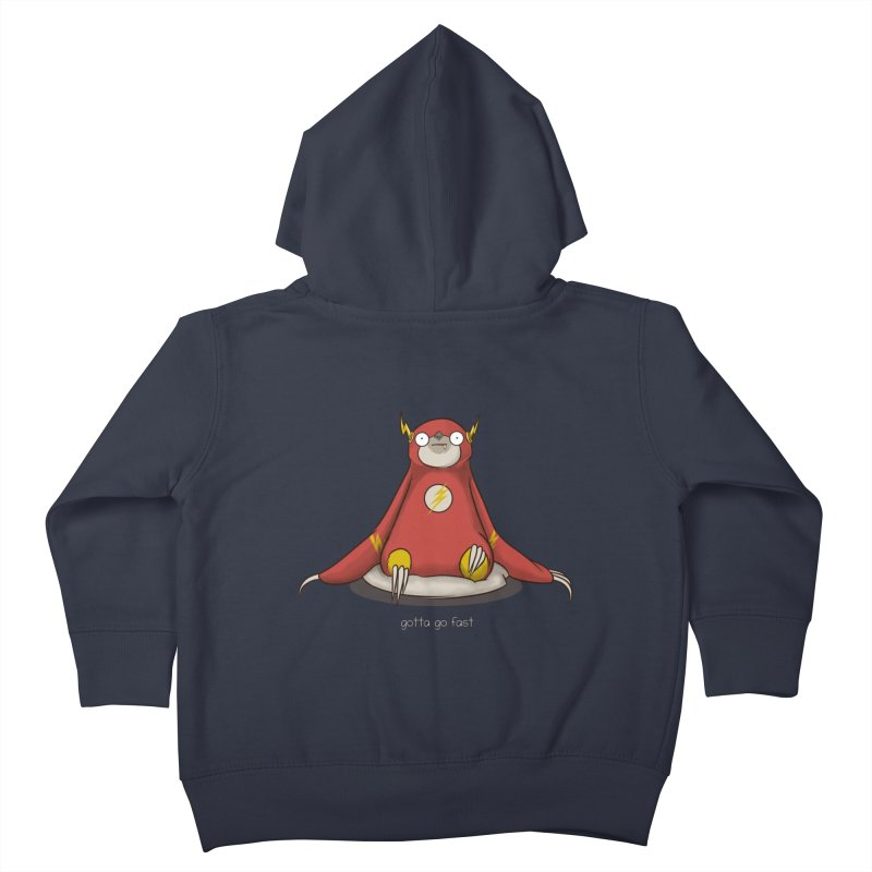Fast Sloth Kids Toddler Zip-Up Hoody by Stuff, By Alan Bao