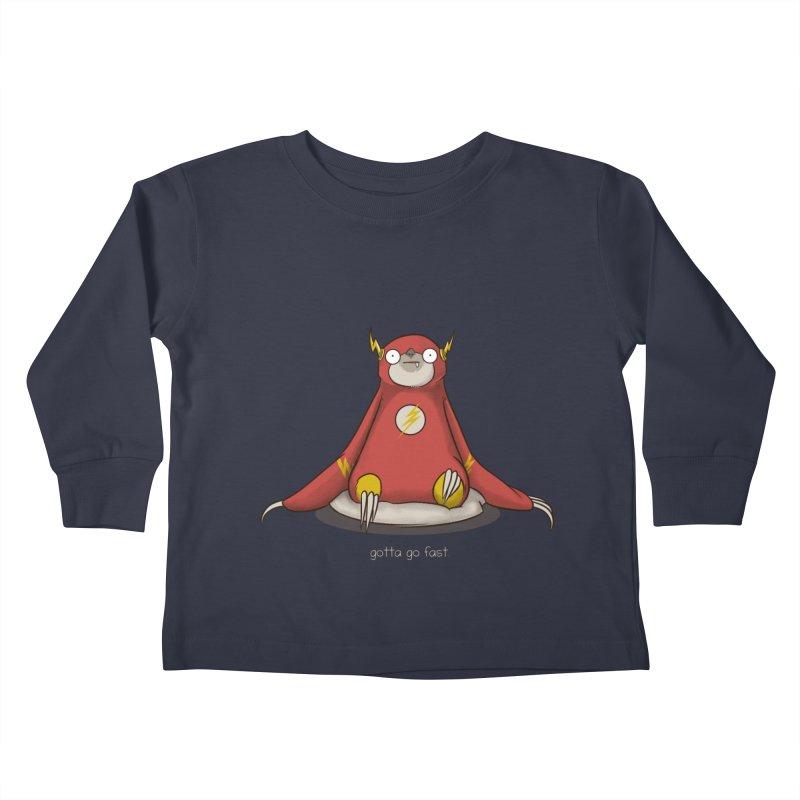 Fast Sloth Kids Toddler Longsleeve T-Shirt by Stuff, By Alan Bao