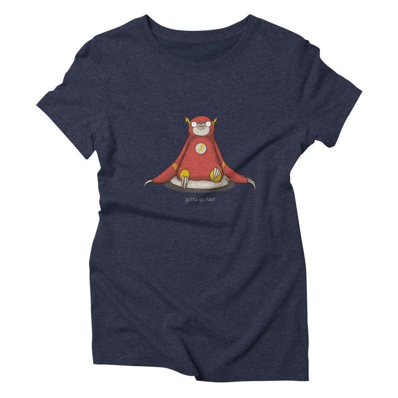 Fast Sloth Women's Triblend T-shirt by Stuff, By Alan Bao