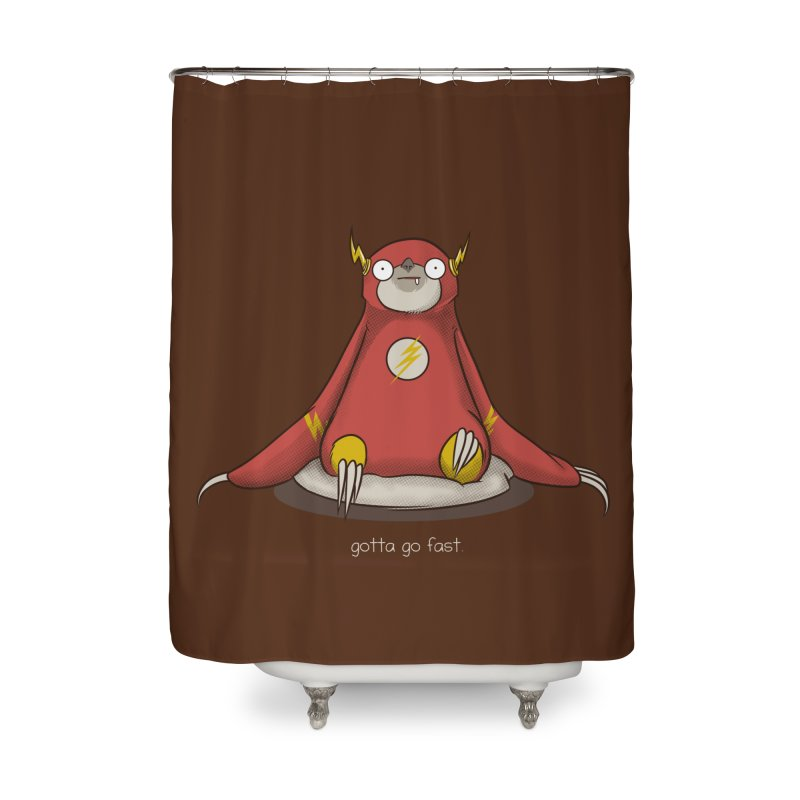 Fast Sloth Home Shower Curtain by Stuff, By Alan Bao