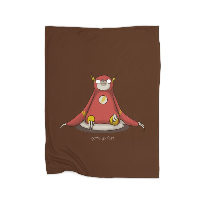 Fast Sloth Home Blanket by Stuff, By Alan Bao