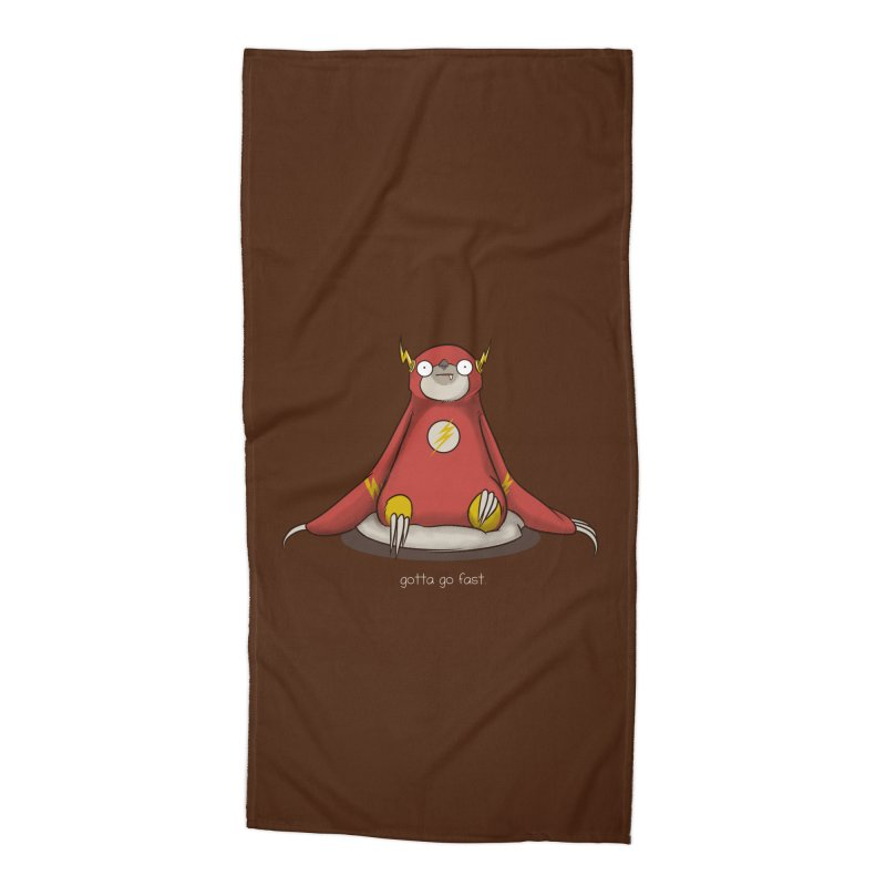 Fast Sloth Accessories Beach Towel by Stuff, By Alan Bao