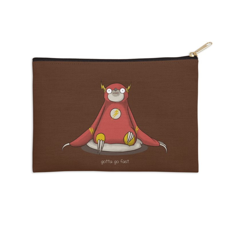 Fast Sloth Accessories Zip Pouch by Stuff, By Alan Bao