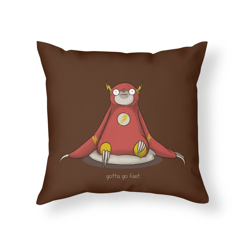 Fast Sloth Home Throw Pillow by Stuff, By Alan Bao