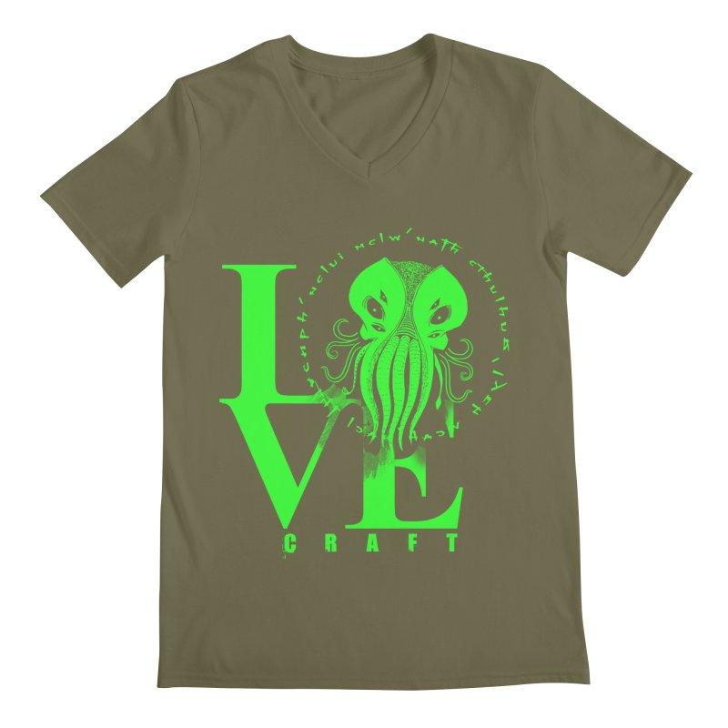 Love Lovecraft Men's V-Neck by Stuff, By Alan Bao