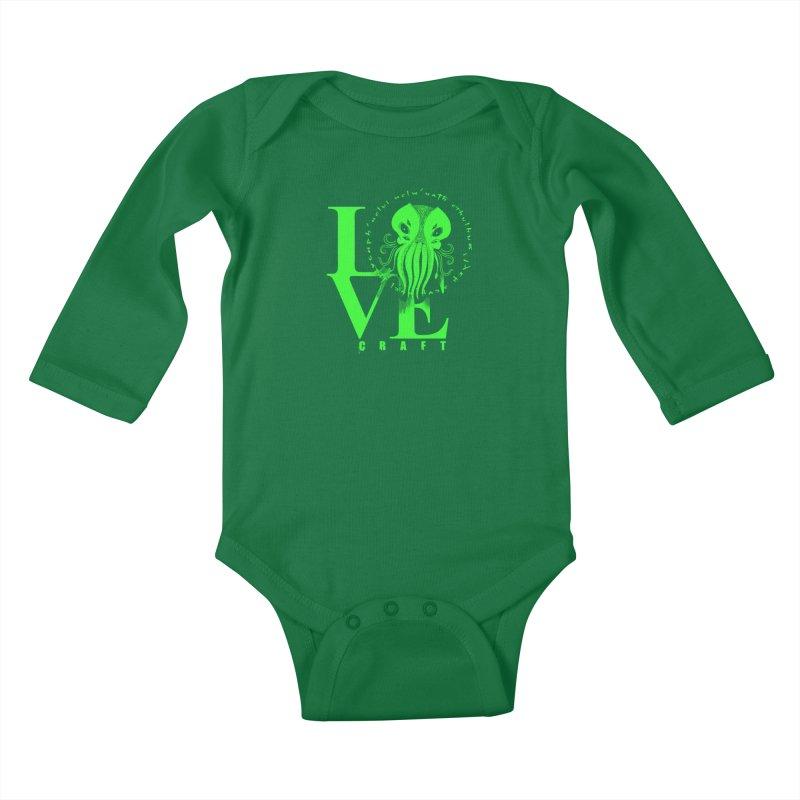 Love Lovecraft Kids Baby Longsleeve Bodysuit by Stuff, By Alan Bao