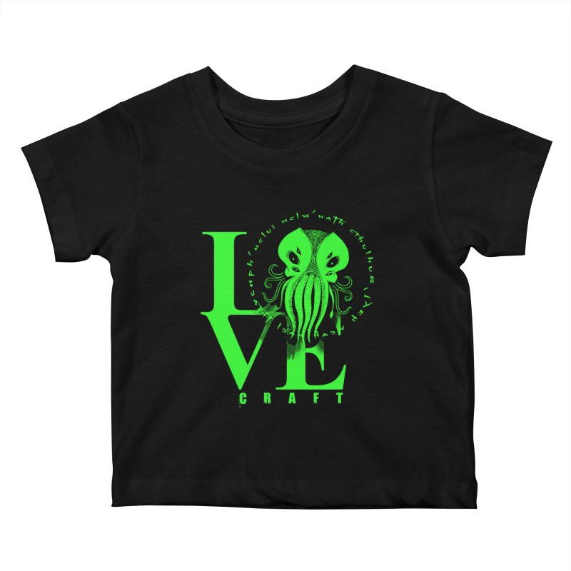 Love Lovecraft Kids Baby T-Shirt by Stuff, By Alan Bao