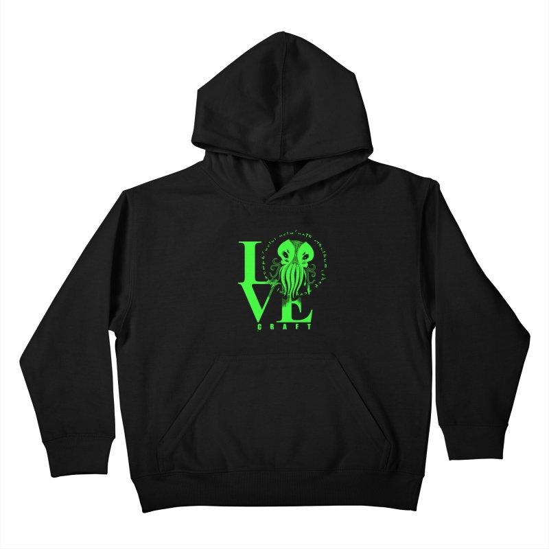 Love Lovecraft Kids Pullover Hoody by Stuff, By Alan Bao