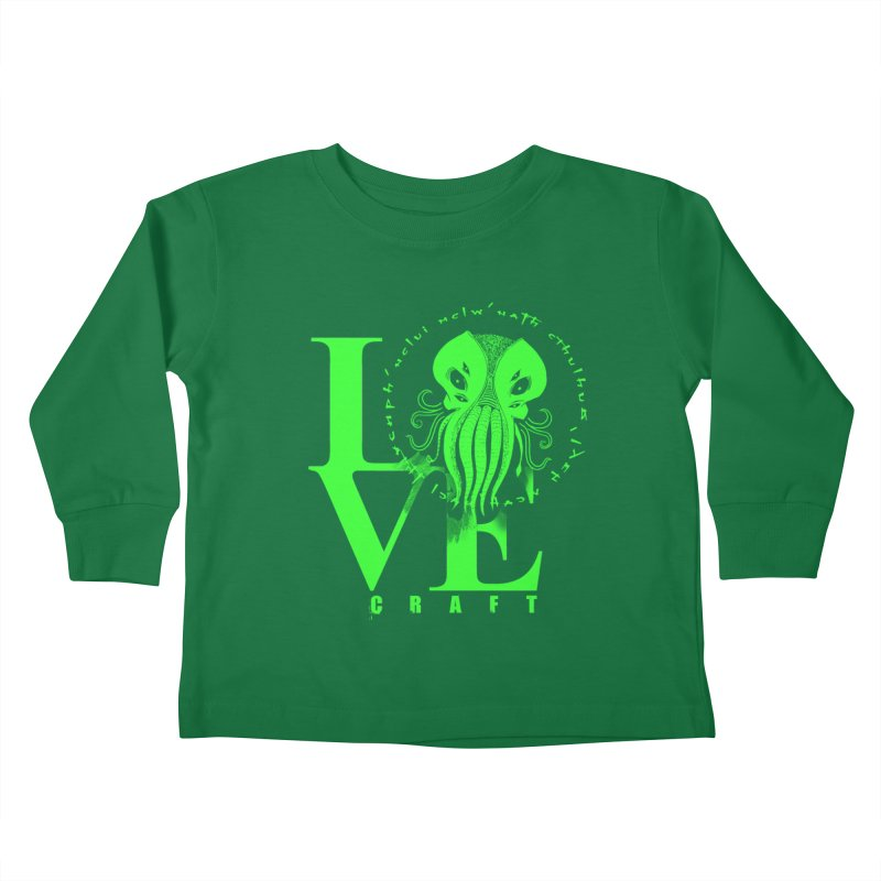 Love Lovecraft Kids Toddler Longsleeve T-Shirt by Stuff, By Alan Bao