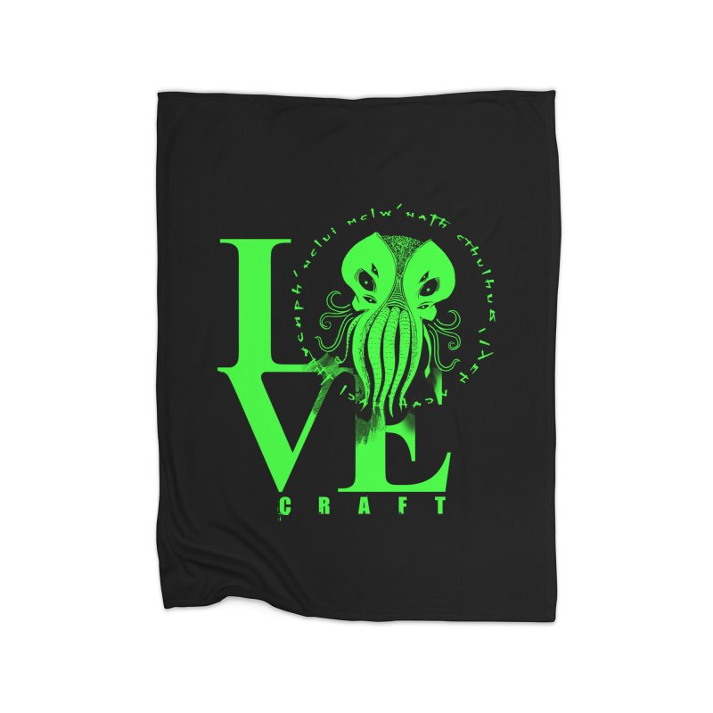 Love Lovecraft Home Blanket by Stuff, By Alan Bao