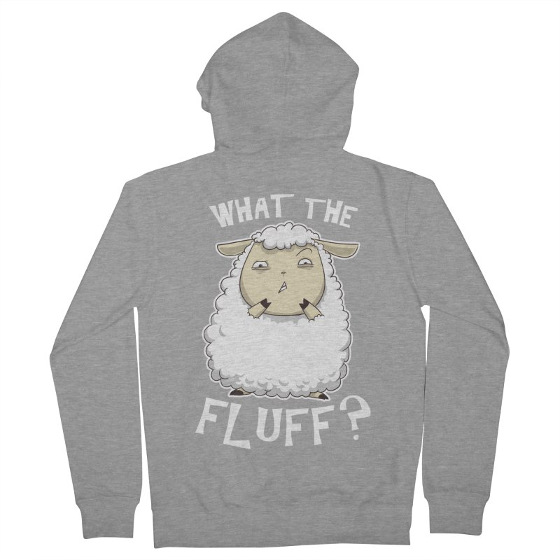 What the Fluff? Men's Zip-Up Hoody by Stuff, By Alan Bao