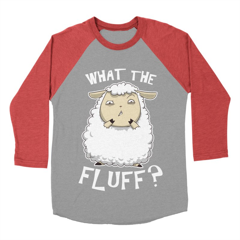What the Fluff? Men's Baseball Triblend T-Shirt by Stuff, By Alan Bao