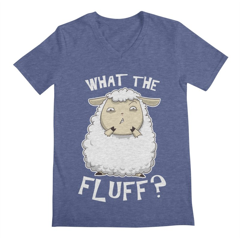 What the Fluff? Men's V-Neck by Stuff, By Alan Bao