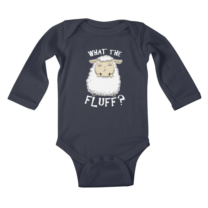 What the Fluff? Kids Baby Longsleeve Bodysuit by Stuff, By Alan Bao